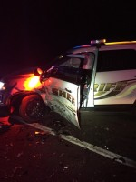 Cop Car Involved In Crash While Trying To Make Traffic Stop